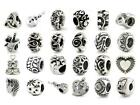 925 STERLING SILVER OHM CHARM BEAD fit EUROPEAN 3 MM BRACELET ~ YOUR CHOICE!