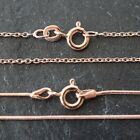 ROSE GOLD PLATED TRACE / SNAKE CHAINS *HIGH QUALITY JEWELLERY MAKING FINDINGS