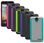 For ZTE AVID Plus Z828 Case Hybrid Shockproof Dual Layer Protective Phone Cover
