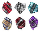 Vesuvio Napoli PLAID Striped Design Colors Men's Hankerchief Pocket Square Hanky