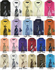 Men's Dress Shirt with Tie + Handkerchief, Come in 22 Colors