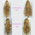 PONYTAIL Clip In Hair Piece Golden Blonde #26 REVERSIBLE 4 Styles Claw Clip