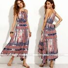 NEW Women Bohemia Style Long Maxi Dress Summer Beach Spaghetti Strap Sexy