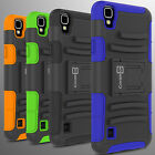 Hybrid Kickstand Case & Holster for LG Tribute HD / LG X Style Belt Clip Cover