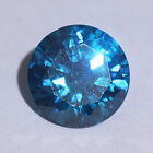 London Blue Topaz Colour Round Brilliant Cubic Zirconia Size & Quality Choice CZ