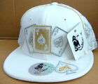 """White with Gold Trim Pit Bull """"Aces"""" Poker Cap"""
