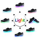Unisex LED Light Lace Up Rechargeable Sportswear Sneaker Luminous Casual Shoes