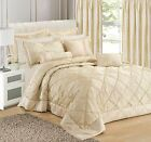 Jacquard Scroll Damask Bedding Set Luxury Floral Bedding Cream