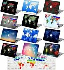 World Map Printed Rubberized Hard Case +KB Cover For Macbook Pro Air 11 12 13 15