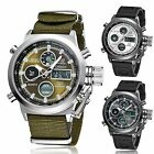 Kyпить Waterproof Mens Stainless Steel Analog Digital Date Quartz Nylon Rubber Watch на еВаy.соm
