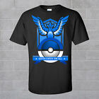 New Pokemon Go Team Valor Team Mystic Team Instinct Pokeball Black Tee shirt