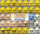 Внешний вид - LEGO - FEMALE Minifigure Heads - PICK YOUR STYLE Yellow Flesh Print Faces People