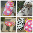 HOT Pet Clothes Warm Jumpsuit Costume Dog Puppy Vest Cat Apparel Leopard & Heart