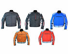 Mens Armoured Cordura Textile Motorbike Motorcycle Short Jacket Racing