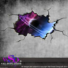 SPACE PLANETS UNIVERSE WORLD CRACKED 3D - WALL ART STICKER BOYS DECAL MURAL 9