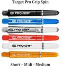 TARGET PRO GRIP SPIN DART STEMS SHAFTS - 5 Colours, 3 Lengths ROTATING SPINNING