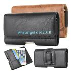 Retro Leather Card Slot Elastic Edge Belt Clip Case Holster Cover for Cell Phone