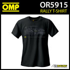 OR5915 OMP Rally T-Shirt Cotton Fabric in Black Adult Sizes XS-XXXL