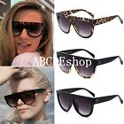 Fashion Women Ladies Oversized Flat Top Celebrity Designer Sunglasses Vintage