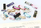 Genuine SWAROVSKI 4547 Baguette Crystals with Sew On Metal Settings * All Colors