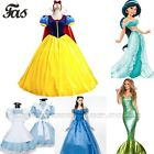 Adult Disney Snow White Dresses Cinderella Sleeping Beauty Cosplay Costume Party