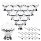 4/8/12/16PCS Clear Crystal Glass Door Knobs Drawer Cabinet Furniture Handle Knob