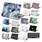 "Hard Rubberized Marble Painting Case +KB For Macbook Pro Air 11 13""15"" Retina 12"