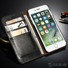 Genuine Leather SLIM Wallet Card Flip Stand Case Cover for iPhone 7 6/6S Plus