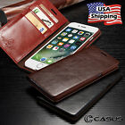 Genuine Leather SLIM Wallet Card Flip Stand Case Cover for iPhone X 8 7 6S Plus