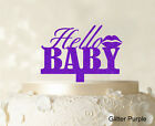 Hello Baby Custom Cake Topper Personalized Mirror Cake Topper Cake Decoration