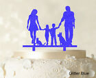 Family Cake Topper Personalized Silhouette Glitter Cake Topper Cake Decoration