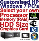 Customised HP Core 2 Quad or Core 2 Duo Desktop / Gaming PC Computers - Wi-Fi