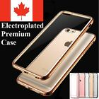 For iPhone 5 S SE 6 6S 7 8 Plus Case - Thin Chrome Electroplate TPU Clear Cover
