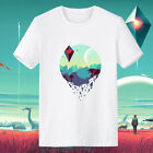 Steam PS4 No Man's Sky Game Cotton Short Sleeved T shirt O-Neck Men Women