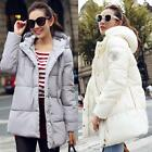 Winter Women Down Cotton Jacket Hooded Coat Long Thicken Overcoat Trench Parka