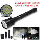 30000LM CREE XML T6 LED Flashlight 5 Mode Aluminum 18650 Light Super Bright LOT