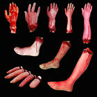 Halloween Horror Chop Latex Bloody Severed Fingers Hands Prop Decor Party