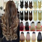 No Clips Headband Wire Hairpiece Hair Extensions 3/4 Full Head 18-24 inch Curly