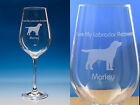 Labrador Retriever Dog Gift Engraved Quality Wine Glass: Can Be Personalised