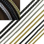 UP Fashion Choker MENS Silver Stainless Steel Wheat Braided Chain Necklace New