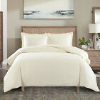 Cotton Duvet Cover Solid Color Casual Modern Style Bedding Set Relaxed Soft Feel image