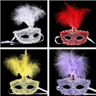Hot Sexy Venetian Lace Feather Ball Masquerade Mask Party Halloween Eye Masks S
