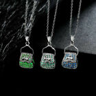 Design Jewelry 1pcs Pendant Luminous Women Bag Hollow Fluorescent Necklace Cheap