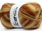 Lot of 4 x 100gr Skeins Ice Yarns ANGORA SUPREME COLOR (70% Angora) Yarn Brown S
