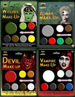 Halloween Zombie Witch Vampire Devil Make Up Face Paints Kits Sets Accessories
