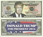 Donald Trump For President of the United States 2016 Dollar Bills x 4 America