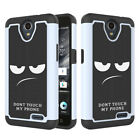For ZTE Maven 2 Z831 AT&T GoPhone Case Hybrid Armor Shockproof Protective Cover