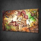 CUBISM ART HOUSES MODERN READY TO HANG CANVAS PRINT PICTURE WALL ART DESIGN