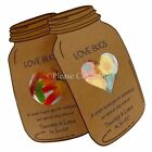 Personalised Kraft Mason Jar Candy Pouch Favour Gift Tags Wedding Baby Shower