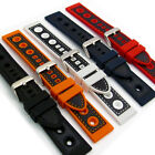 Silicone Grand Prix Racing Style Sports Watch Strap 20mm 22mm 24mm